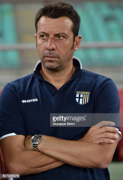 Roberto D'Aversa head coach of Parma Calcio during the TIM Cup match between AS Bari and Parma Calcio at Stadio San Nicola on August 6 2017 in Bari...