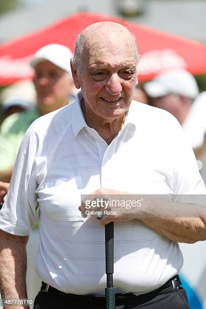 Roberto De Vicenzo former PGA Tour player poses for pictures during the first round of America's Golf Cup as part of PGA Latinoamerica tour at Olivos...