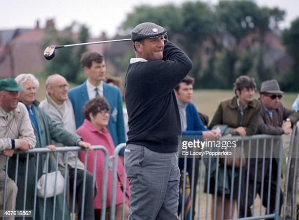 Roberto de Vicenzo of Argentina in action during the British Open Golf Championship at Royal Lytham St Annes Golf Club on 10th July 1969