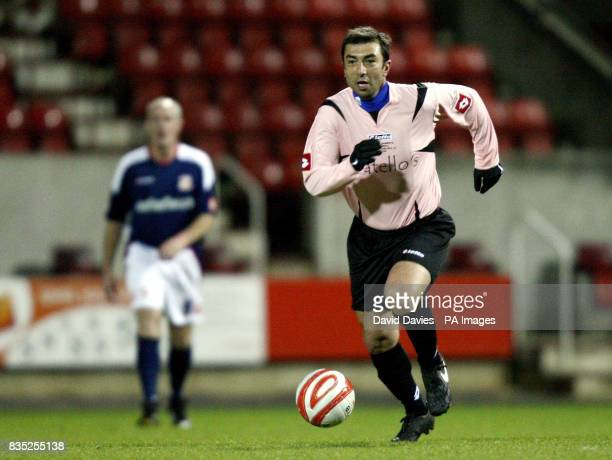 Roberto Di Matteo in action during the Christian Roberts Testimonial at the County Ground in Swindon