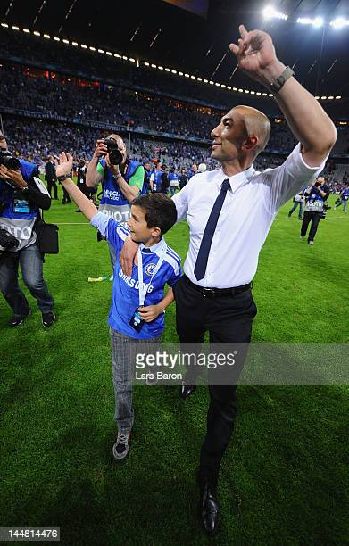 Roberto Di Matteo interim manager of Chelsea celebrates after their victory in the UEFA Champions League Final between FC Bayern Muenchen and Chelsea...