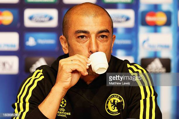 Roberto Di Matteo manager of Chelsea during a press conference at the Grimaldi Forum on August 30 2012 in Monaco Monaco