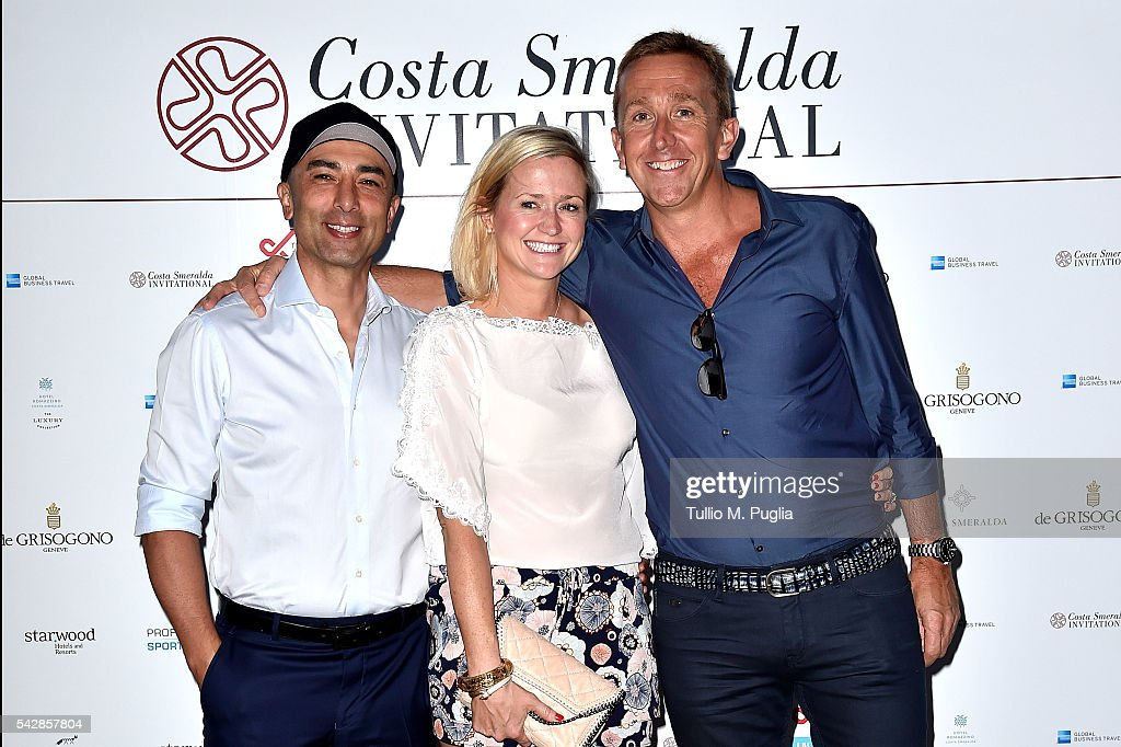 <a gi-track='captionPersonalityLinkClicked' href=/galleries/search?phrase=Roberto+Di+Matteo&family=editorial&specificpeople=2380083 ng-click='$event.stopPropagation()'>Roberto Di Matteo</a>, Zoe Di Matteo and Professional Sports Group CEO Jamie Cunningham attend the Welcome Dinner prior to The Costa Smeralda Invitational golf tournament at Pevero Golf Club - Costa Smeralda on June 24, 2016 in Olbia, Italy.