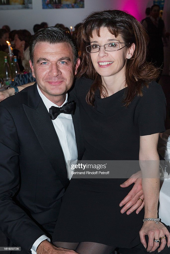 Roberto Eggs, President North Europe, Louis Vuitton (L) and his wife attend the 30th edition of 'La Nuit Des Neiges' Charity Gala on February 16, 2013 in Crans-Montana, Switzerland.