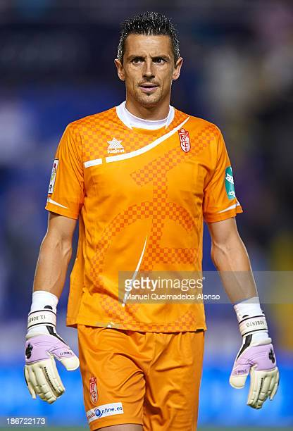 Roberto Fernandez of Granada looks on after the La Liga match between Levante UD and Granada CF at Ciutat de Valencia Stadium on November 03 2013 in...