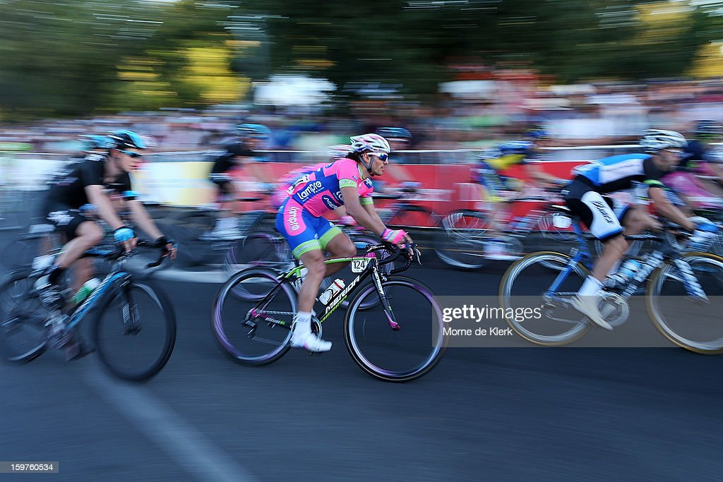 Roberto Ferrari of Italy and team Lampre-Merida rides during the People's Choice Classic race of the Tour Down Under on January 20, 2013 in Adelaide, Australia.