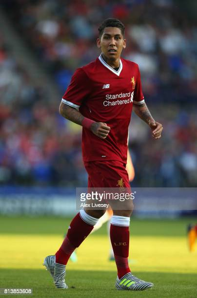 Roberto Firmino of Liverpool during a preseason friendly match between Tranmere Rovers and Liverpool at Prenton Park on July 12 2017 in Birkenhead...