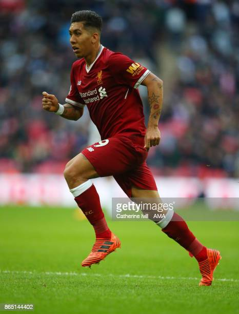 Roberto Firmino of Liverpool during the Premier League match between Tottenham Hotspur and Liverpool at Wembley Stadium on October 22 2017 in London...