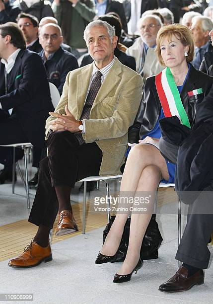 Roberto Formigoni and Letizia Moratti attend the Affori Tube Station Opening on March 26 2011 in Milan Italy The Affori tube station is one of the...