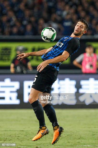 Roberto Gagliardin of FC Internationale reacts during the 2017 International Champions Cup football match between FC Internationale v Olympique...