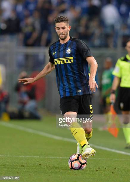 Roberto Gagliardini during the Italian Serie A football match between SS Lazio and FC Inter at the Olympic Stadium in Rome on may 21 2017