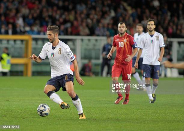 Roberto Gagliardini during the match to qualify for the Football World Cup 2018 between Italia v Macedonia in Turin on October 24 2017