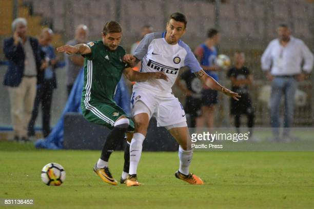 Roberto Gagliardini of FC INTER figth for ball during Friendly match between FC Inter Milan vs Real Betis Sevilla at Lecce Stadio via del Mare