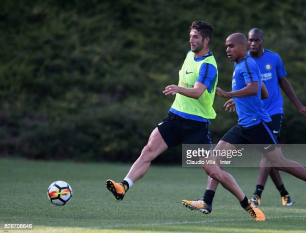 Roberto Gagliardini of FC Internazionale in action during a training session at Suning Training Center at Appiano Gentile on August 2 2017 in Como...