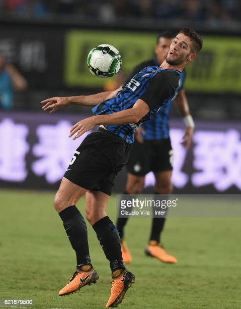 Roberto Gagliardini of FC Internazionale in action during the 2017 International Champions Cup match between FC Internazionale and Olympique Lyonnais...