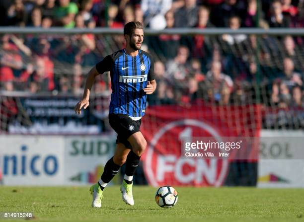 Roberto Gagliardini of FC Internazionale in action during the PreSeason Friendly match between FC Internazionale and Nurnberg on July 15 2017 in...