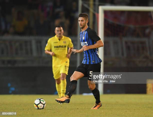 Roberto Gagliardini of FC Internazionale in action during the PreSeason Friendly match between FC Internazionale and Villareal CF at Stadio Riviera...