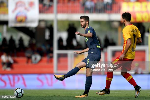 Roberto Gagliardini of FC Internazionale in action during the Serie A match between Benevento Calcio and FC Internazionale at Stadio Ciro Vigorito on...