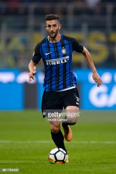 Roberto Gagliardini of FC Internazionale in action during the Serie A football match between FC Internazionale and AC Milan FC Internazionale wins 32...