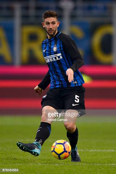 Roberto Gagliardini of FC Internazionale in action during the Serie A football match between FC Internazionale and Atalanta BC FC Internazionale won...