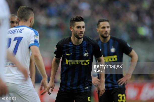 Roberto Gagliardini of Inter during the Serie A match between FC Internazionale and Atalanta at Stadio Giuseppe Meazza on March 12 2017 in Milan...