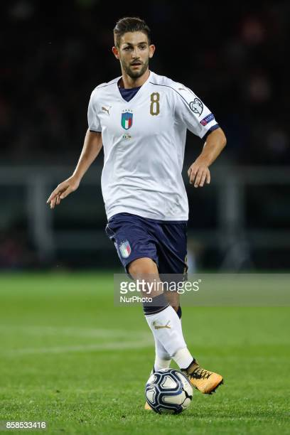 Roberto Gagliardini of Italy national team in action during the 2018 FIFA World Cup Russia qualifier Group G football match between Italy and FYR...