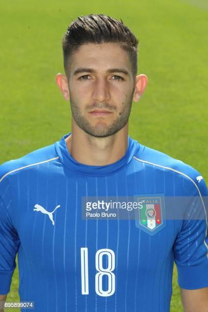 Roberto Gagliardini of Italy U21 poses during the official team photo at Centro Sportivo Fulvio Bernardini on June 14 2017 in Rome Italy