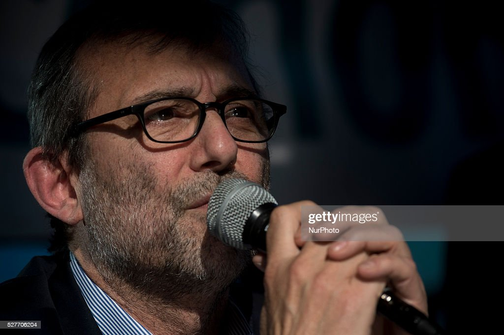 Roberto Giachetti, Italian politician (PD) during the first debate between the candidates for mayor of Rome in Rome, Italy on May 3, 2016.