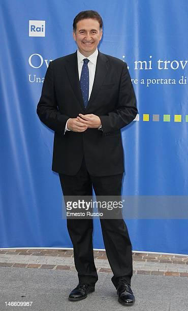 Roberto Giacobbo attends the Palinsesti Rai photocall at Cavalieri Hilton Hotel on June 20 2012 in Rome Italy