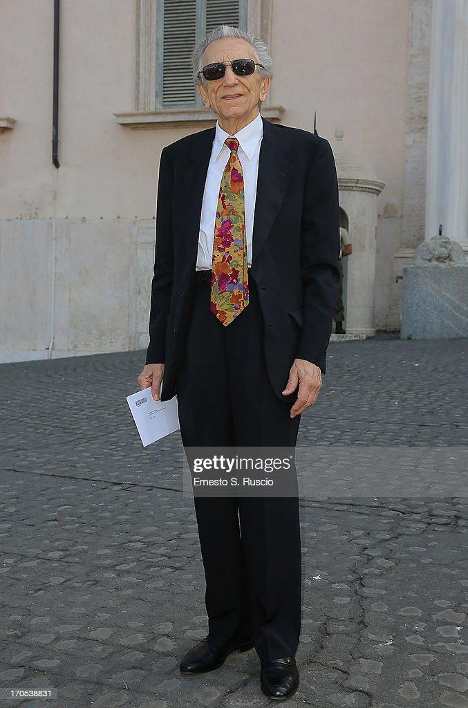 <a gi-track='captionPersonalityLinkClicked' href=/galleries/search?phrase=Roberto+Herlitzka&family=editorial&specificpeople=3173725 ng-click='$event.stopPropagation()'>Roberto Herlitzka</a> arrives at the 2013 David di Donatello Award candidates presentation at palazzo Quirinale on June 14, 2013 in Rome, Italy.