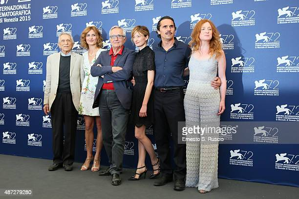 Roberto Herlitzka Lidiya Liberman Marco Bellocchio Alba Rohrwacher Pier Giorgio Bellocchio and Federica Fracassi attend a photocall for 'Blood Of My...