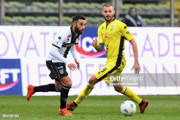 Roberto Insigne of Parma Calcio in action during the Serie B match between Parma Calcio and Pro Vercelli FC at Stadio Ennio Tardini on December 2...
