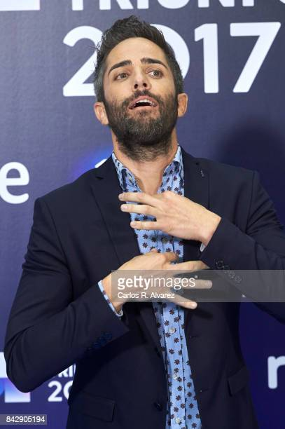Roberto Leal attends 'Operacion Triunfo' photocall at the Palacio de Congresos during the FesTVal 2017 on September 5 2017 in VitoriaGasteiz Spain