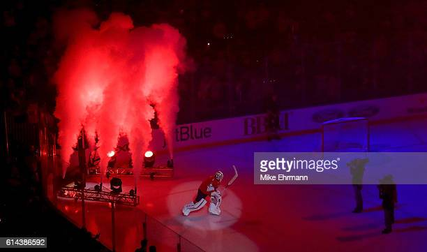 Roberto Luongo of the Florida Panthers takes the ice during Opening Night of the 20162017 NHL Season against New Jersey Devils at BBT Center on...