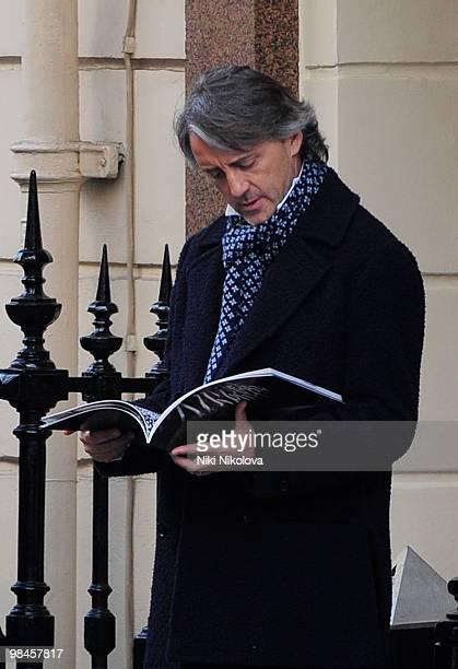 Roberto Mancini sighting on April 14 2010 in London England