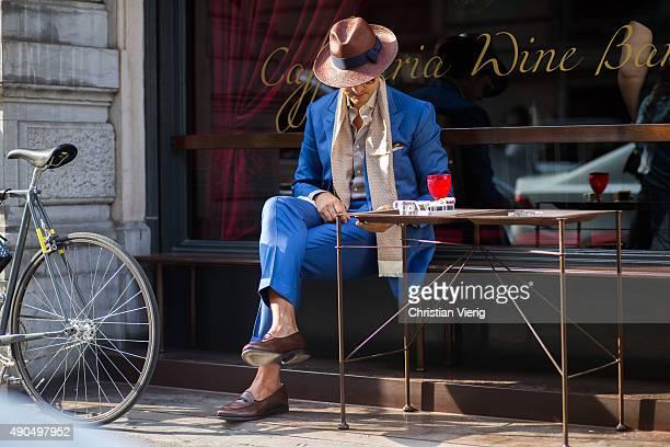 Roberto Mararo during Milan Fashion Week Spring/Summer 16 on September 27 2015 in Milan Italy