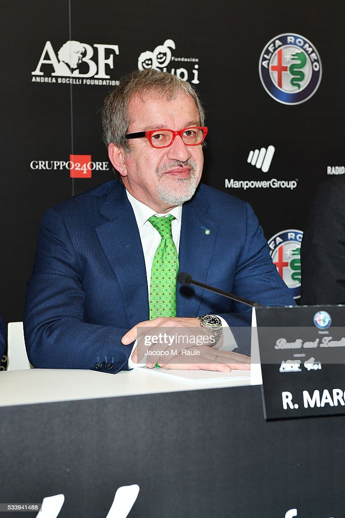 Bocelli And Zanetti Night Press Conference