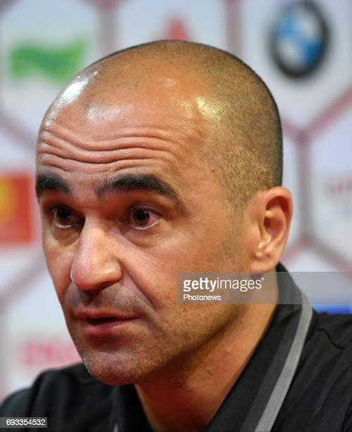 Roberto Martinez head coach of Belgian Team pictured during a press conference of the Belgian national team prior to the World Cup 2018 qualification...
