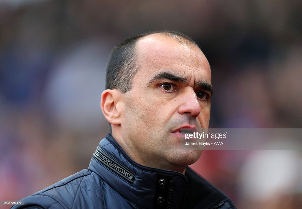 Roberto Martinez manager / head coach of Everton during the Barclays Premier League match between Stoke City and Everton at the Britannia Stadium on February 06, 2016 in Stoke-on-Trent, England.