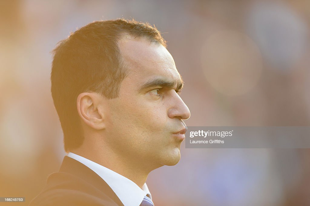 Roberto Martinez of Wigan looks on during the Barclays Premier League match between Wigan Athletic and Swansea City at DW Stadium on May 7, 2013 in Wigan, England.