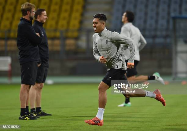 Roberto Matip of Liverpool during a training session at Stadion Ljudski vrt on October 16 2017 in Maribor Slovenia