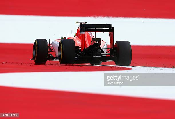 Roberto Merhi of Spain and Manor Marussia drives during the Formula One Grand Prix of Austria at Red Bull Ring on June 21 2015 in Spielberg Austria
