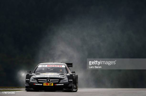 Roberto Merhi of Spain and THOMAS SABO Mercedes AMG drives during the seventh round of the DTM 2013 German Touring Car Championship at Nuerburgring...