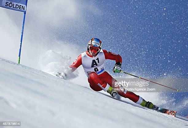 Roberto Nani of Italy competes during the Audi FIS Alpine Ski World Cup Men's Giant Slalom on October 26 2014 in Soelden Austria