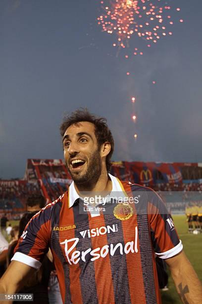 Roberto Nanni of Cerro Porteño celebrates after a friendly match between Boca Juniors and Cerro Porteño as part of the Copa Fundación CCP for the 100...