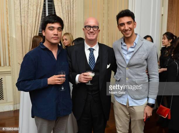 Roberto Pino Almeyda Avi Balashnikov and Eisa Alhabib attend International Emmy Awards Festival Opening Cocktail at Council of the Americas on...