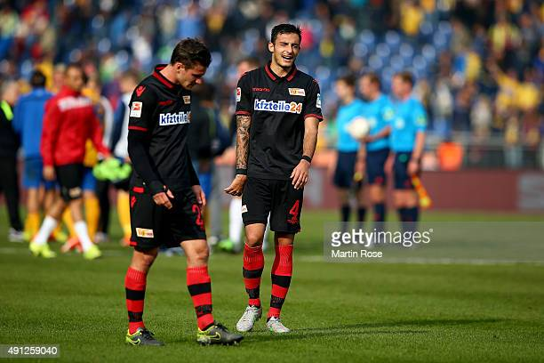 Roberto Puncec of Union Berlin looks dejected after the Second Bundesliga match between Eintracht Braunschweig and 1 FC Union Berlin at Eintracht...