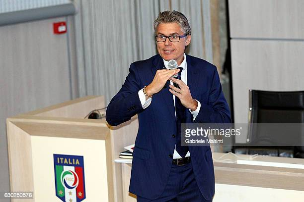 Roberto Rosetti FIGC responsible for the VAR project at Coverciano on December 19 2016 in Florence Italy