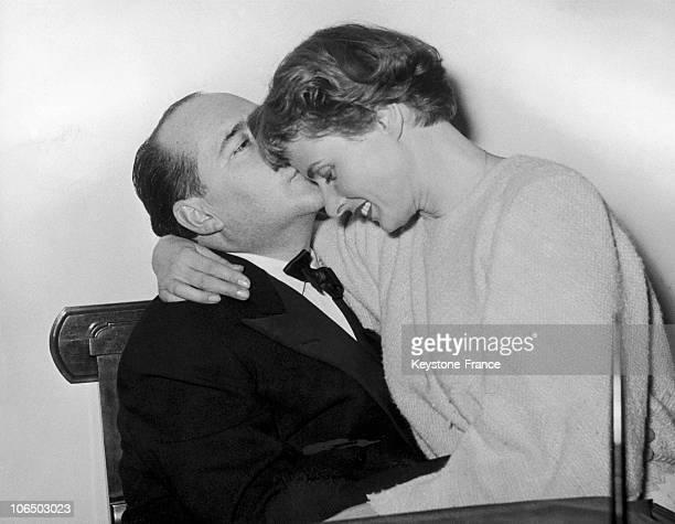 Roberto Rosselini And Ingrid Bergman Naples Italy In 1953