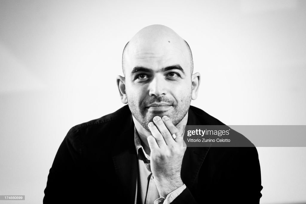 Roberto Saviano attends 2013 Giffoni Film Festival press conference on July 27, 2013 in Giffoni Valle Piana, Italy.